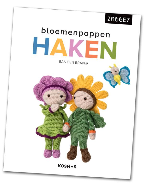 Book crochet flower dolls