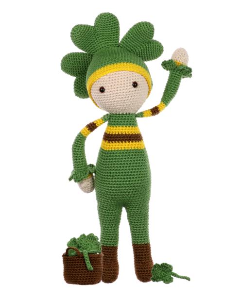 Four-Leaf Clover Klaus crochet pattern by Zabbez