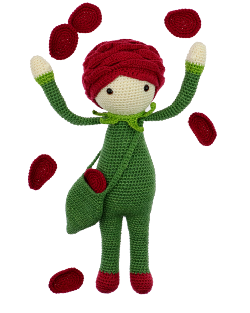 Crochet doll Rose amigurumi tutorial, 2020 | 620x496