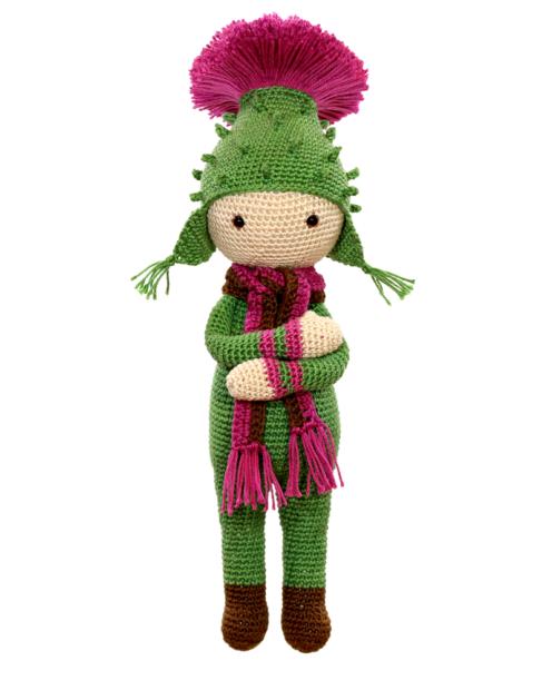 Thistle Tim crochet pattern by Zabbez