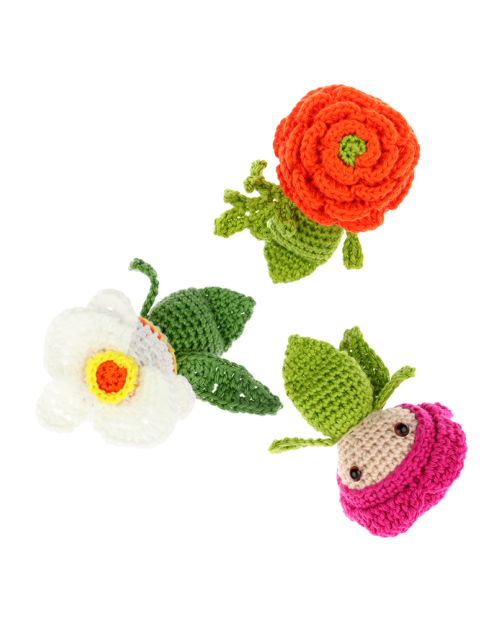 Mini Peony Ranunculus Orchid crochet pattern by Zabbez