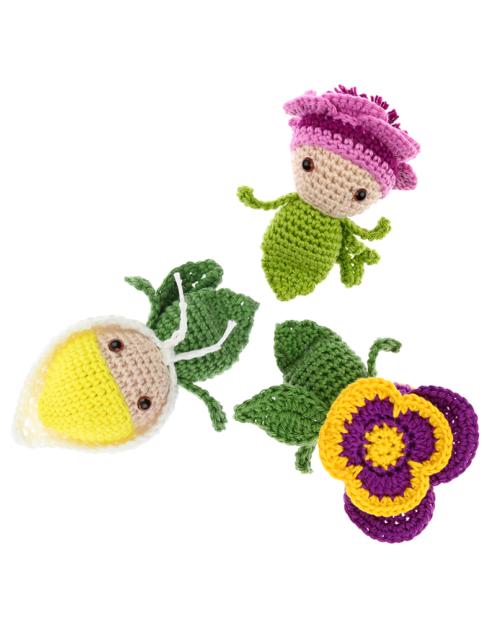 Mini Violet Calla Lily Anemone crochet pattern by Zabbez