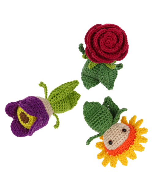 Mini Rose Sunflower Tulip crochet pattern by Zabbez