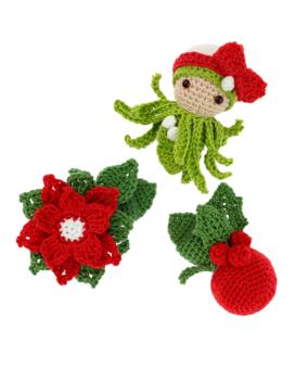 Mini Holly Poinsettia Mistletoe
