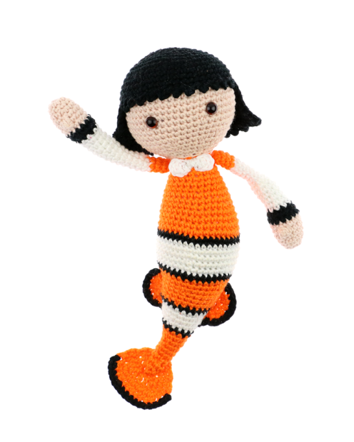 Clownfish Cora crochet pattern by Zabbez