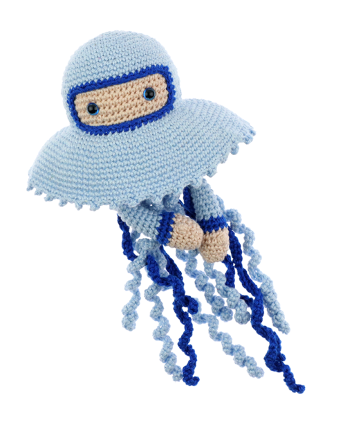 Jellyfish Karl crochet pattern by Zabbez
