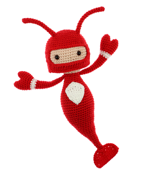 Lobster Kevin crochet pattern by Zabbez