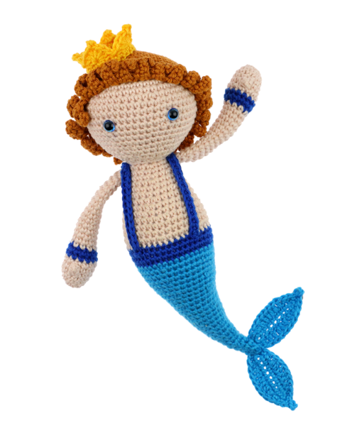 Merman Kasper crochet pattern by Zabbez
