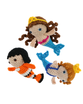 Mini Mermaid Merman Clownfish