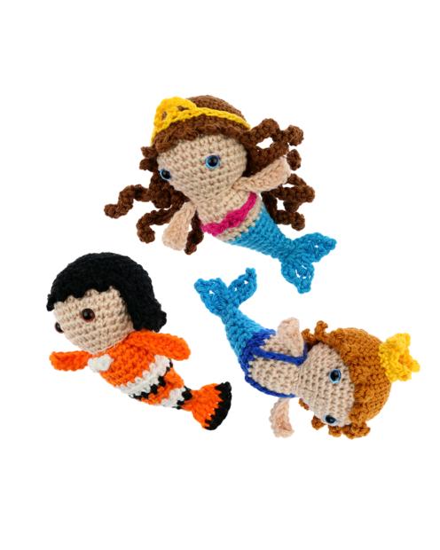 Mini Mermaid Merman Clownfish crochet pattern by Zabbez