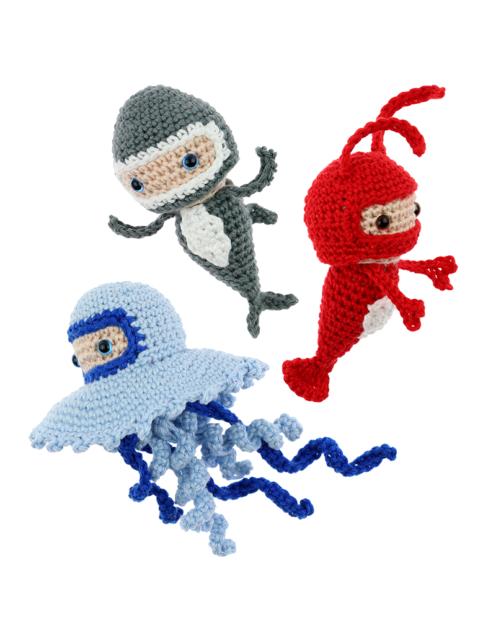 Mini Jellyfish Lobster Shark crochet pattern by Zabbez