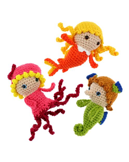 Mini Goldfish Octopus Seahorse crochet pattern by Zabbez