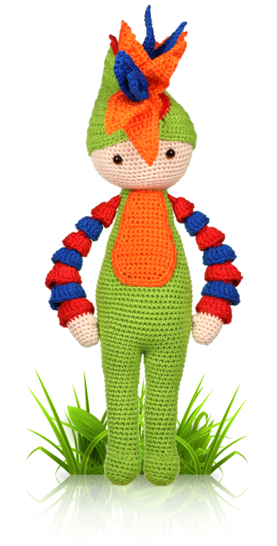 Bird of Paradise Paco - crochet amigurumi pattern by Zabbez / Bas den Braver