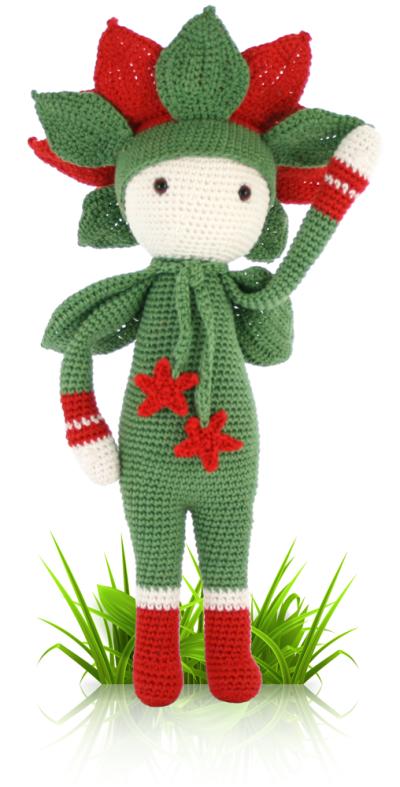 Christmas Star Kris - crochet amigurumi pattern by Zabbez / Bas den Braver