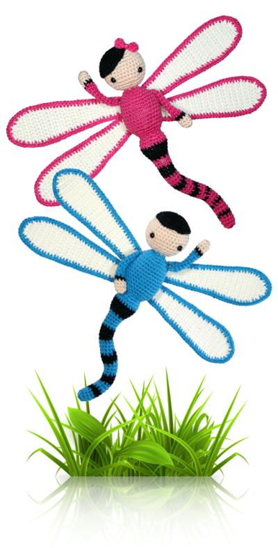 Dave and Lisa - crochet amigurumi pattern by Zabbez / Bas den Braver