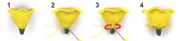 crochet daffodil hat stepbystep