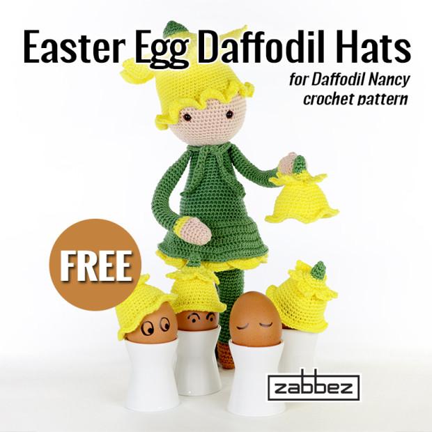 free crochet pattern daffodil easter egg
