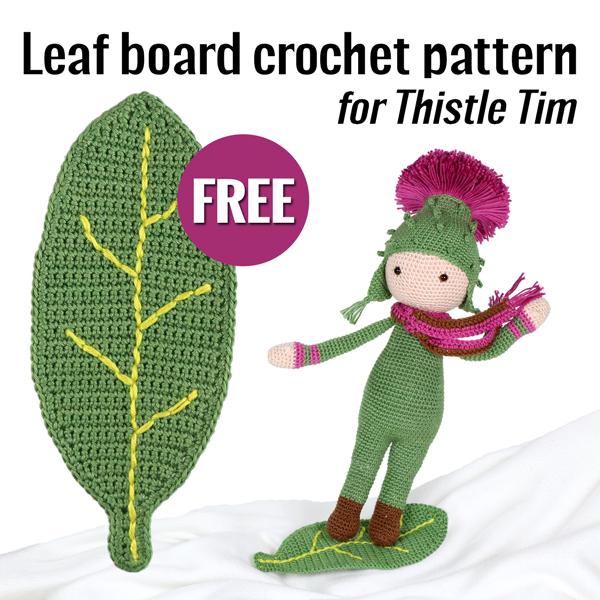free crochet pattern leaf board