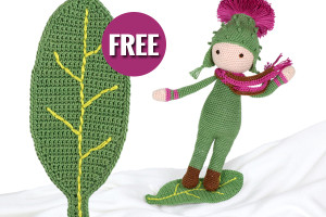 Free leaf board crochet pattern