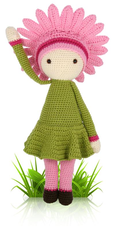 ... crochet pattern Zabbez amigurumi Zabbez - crochet amigurumi flower
