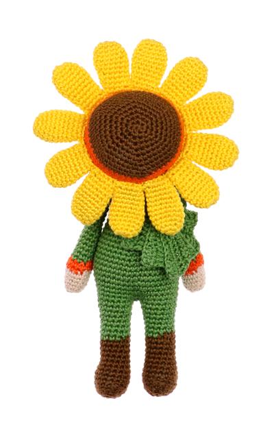 Little Sunflower Sam crochet pattern by Zabbez