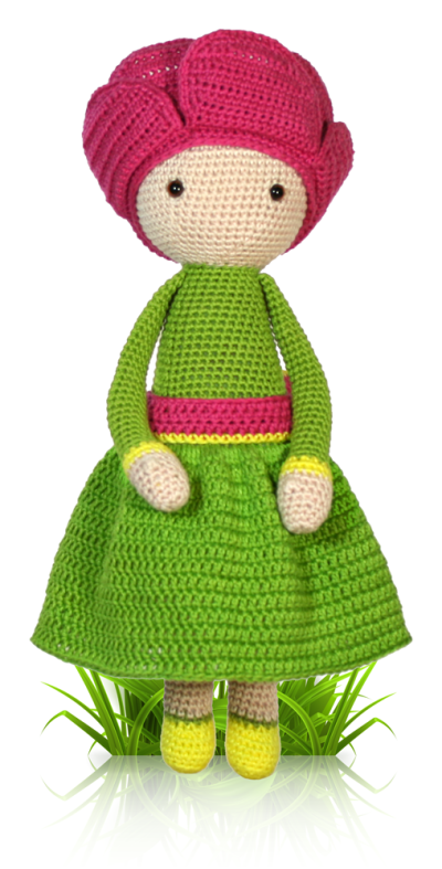 Peony Pam - crochet amigurumi pattern by Zabbez / Bas den Braver