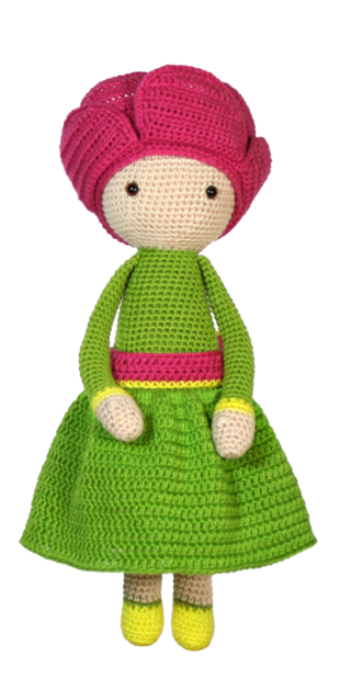 Peony Pam crochet pattern by Zabbez