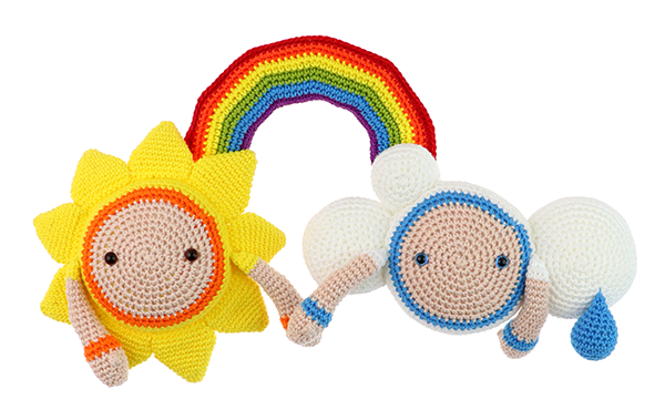 Free Rainbow crochet pattern together