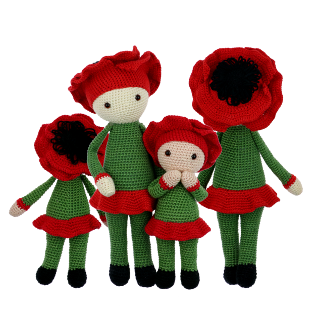 Little Poppy Paola crochet pattern