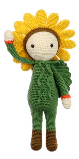 Sunflower Sam crochet pattern by Zabbez