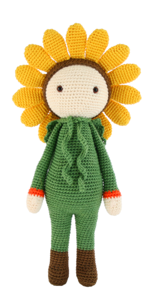 Sunflower Sam crochet pattern by Zabbez