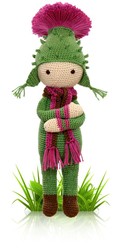 Thistle Tim - crochet amigurumi pattern by Zabbez / Bas den Braver