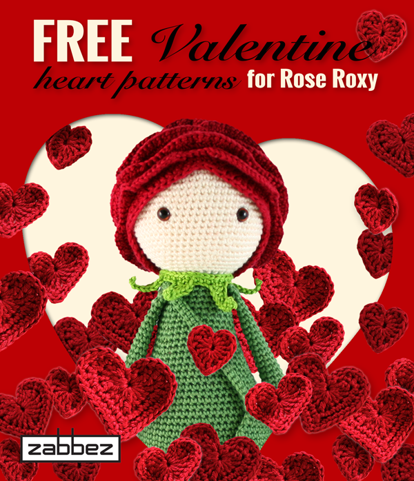 Free Valentine Heart Patterns Zabbez Crochet Amigurumi Flower
