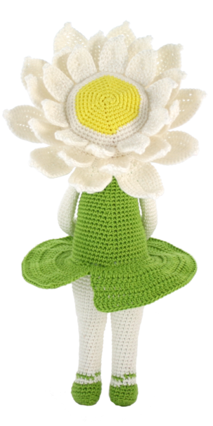Waterlily Winnie Flower Doll Crochet Pattern Zabbez Amigurumi