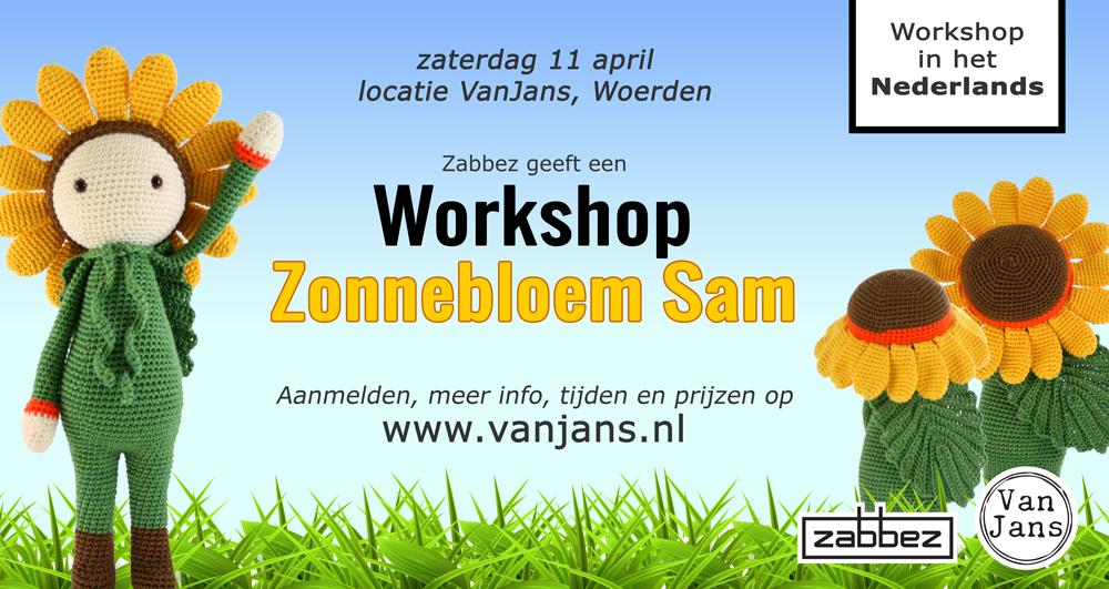 Workshop Zonnebloem Sam Nl Zabbez Crochet Amigurumi Flower