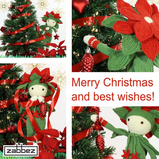 crochet Christmas Star Kris decorating tree