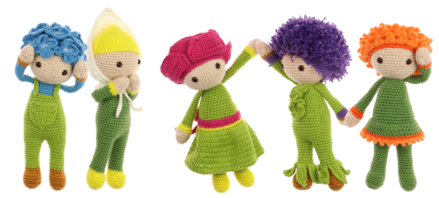 Flower Doll Little Series Zabbez Crochet Amigurumi Flower Dolls