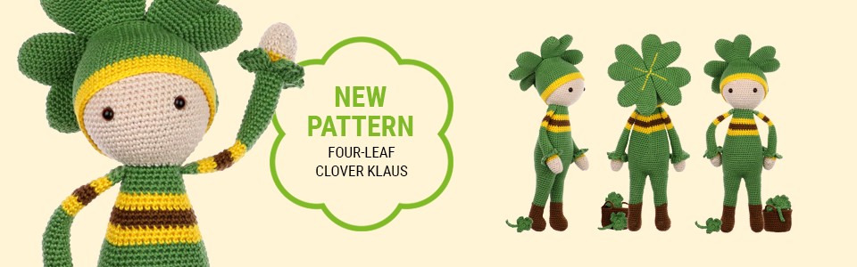 Four-Leaf Clover Klaus crochet pattern